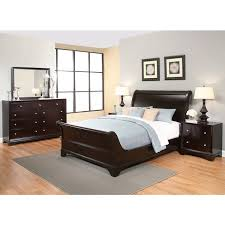 abbyson kingston 5 espresso sleigh king size bedroom set