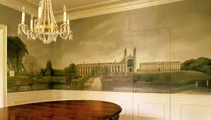 residential murals cambridge mural additional view mural was painted above chair rail extending to crown on all four walls in dining room l