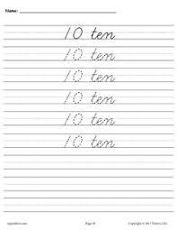 free cursive handwriting u0026 number tracing worksheets 1 20