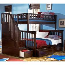 Twin Beds With Drawers Columbia Staircase Bunk Bed W Raised Panel Drawers Twin Over