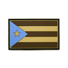Flag Rank Puerto Rico Flag Pvc Morale Patch Neo Tactical Gear