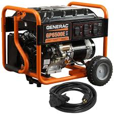 generac 6 500 watt gasoline powered portable generator 5941 the