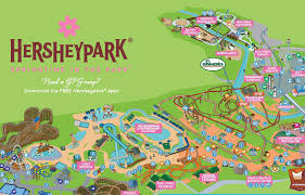 park maps summer fall winter hersheypark