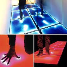 touch sensitive floor lighting gadgets geekery