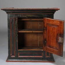 Swedish Painted Furniture Antique Swedish Painted Pine Hanging Tobacco Cabinet Eron