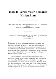 sample descriptive essay about a person writing your personal vision plan