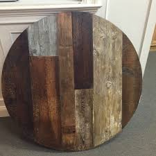 round barnwood kitchen table home table decoration