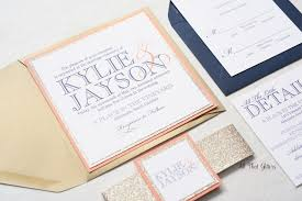 kylie modern wedding invitation suite all that glitters