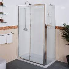 Sliding Shower Screen Doors Bathroom Sliding Shower Door With Indoor House Plant And White