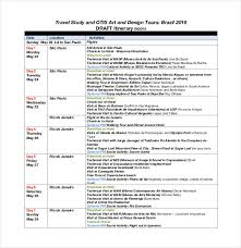travel itinerary images 40 travel itinerary templates free sample example format jpg