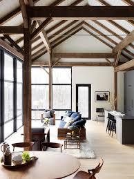 Exposed Beam Ceiling Living Room by Fox Hall Courtesy Reto Guntli Interiors Pinterest Foxes