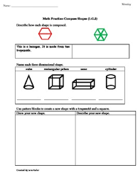 1st grade common core math worksheets 1 g 2 composing shapes and