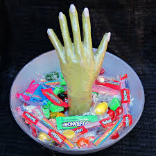 halloween candy bowls spooky monster hand candy bowl