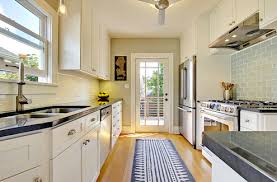 kuche classic galley kitchen design using frosted glass best