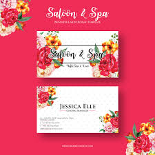 free saloon u0026 spa business card design template