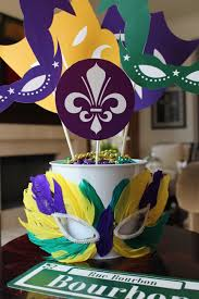mardi gras photo props can also double as a centerpiece mardi
