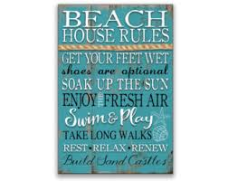 beachy signs wall designs themed wall house sign