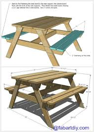 Free Wood Patio Table Plans by Diy Sandbox Picnic Table Two In One