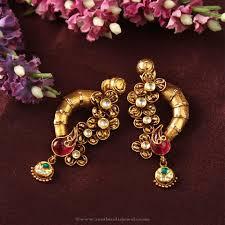 gold earring studs designs designer ear studs from manubhai fancy earrings designer