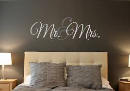 Bedroom Wall Art Words Mr U0026 Mrs Vinyl Wall Decal Wall Quotes Decals Words For