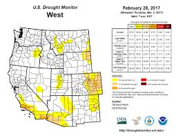 colorado snowpack map drought monitor shows dramatic changes to national map