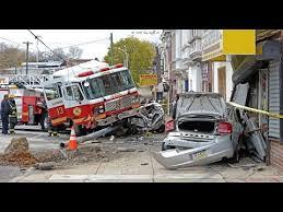 philadelphia fire dept ladder 13 crash youtube