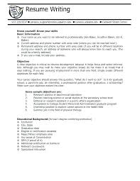 objective on resume student objective for resume writing resumes for high school