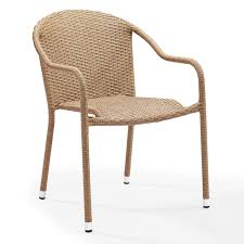 Crosley Palm Harbor Patio Furniture Crosley Palm Harbor Outdoor Wicker Stackable Chairs Set Of 4