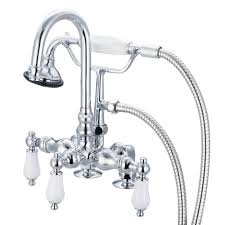 kingston brass vintage 2 handle claw foot tub faucet and shower