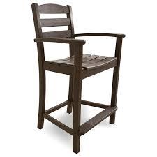 Breezesta Coastal Bar Chair by Polywood La Casa Cafe Counter Arm Chair Counter Chairs Chairs