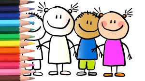 how i color little people coloring pages for children my