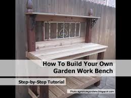 Build Your Own Work Bench Garden Work Bench1 Jpg