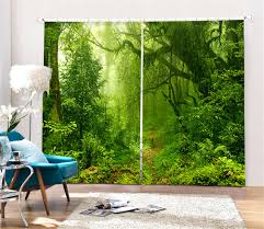 Jungle Blackout Curtains Tropical Jungle Digital Print 3d Blackout Curtains For Living Room