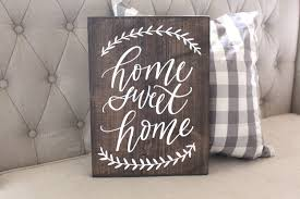 home sweet home sign rustic home decor farmhouse home decor
