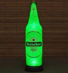 Man Cave Led Lighting by Heineken Beer Big 24oz Emerald Green Led Beer Bottle Lamp Light