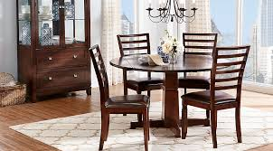 Round Cherry Kitchen Table by Riverdale Cherry 5 Pc Round Dining Room Dining Room Sets Dark Wood
