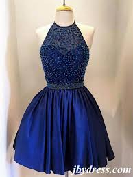 blue graduation dresses a line neck navy blue prom dress navy blue