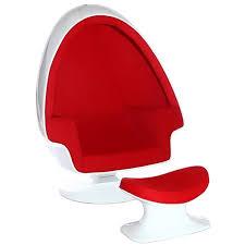 Armchairs And Ottomans Alpha Shell Egg Chair And Ottoman