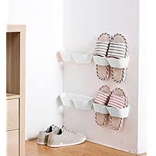 hanging shoe caddy amazon com mygift wall mounted black metal 36 hook shoe rack 18