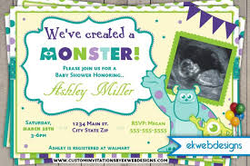 monster baby shower invitations monster baby shower invitations