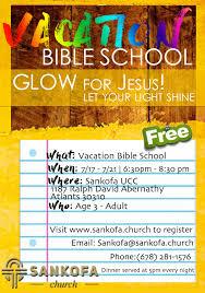 let your light shine vacation bible sankofa church vacation bible