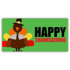 happy thanksgiving with turkey at speedysigns