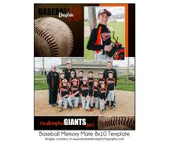 baseball mm9 8x10 memory mate template sports photo template