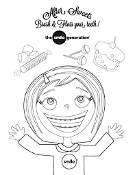 free coloring pages braces dentist coloring pages 3767