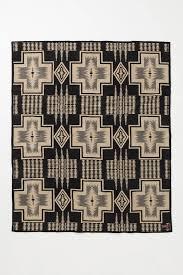 Harding Carpets by Pendleton The Portland Collection Harding Blanket Black Motif