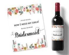 will you be my bridesmaid wine labels will you be my bridesmaid wine label pea green by weddingfusions