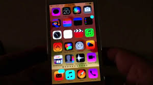 how to change colors of icons on iphone 5 using ios 7 youtube