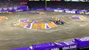 monster truck jam anaheim monster jam anaheim 2 11 2017 freestyle youtube