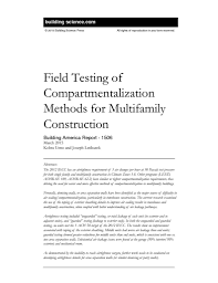 ba 1506 field testing of compartmentalization methods for