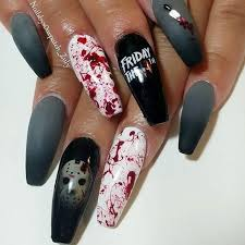 creepy cool nail art inspiration source instagram fridaythe13th